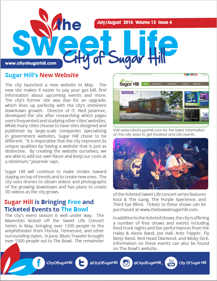 The Sweetlife Newsletter July August 2016