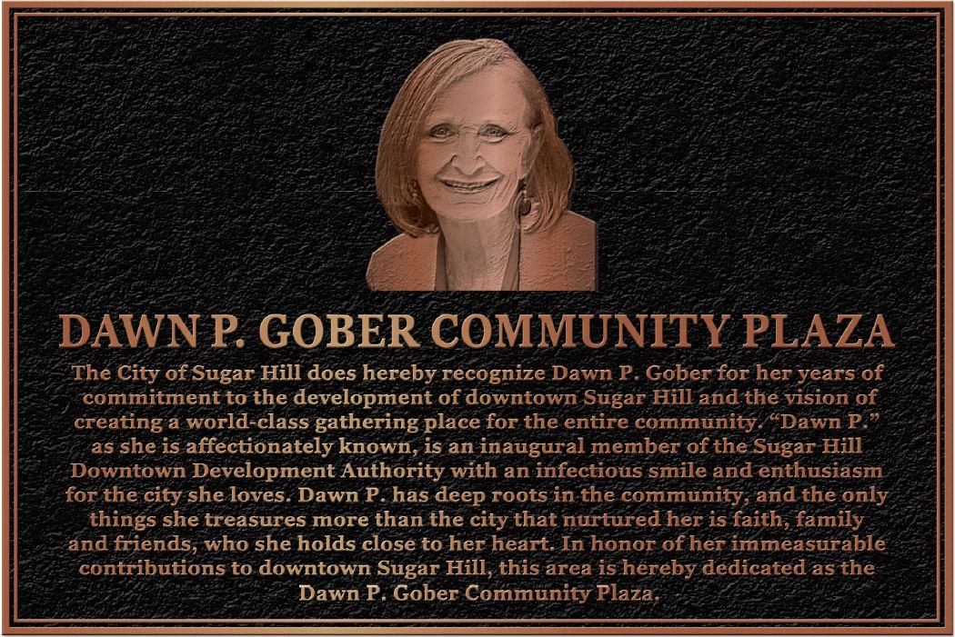 Dawn P Gober Plaque