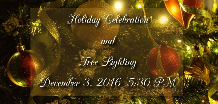 Save the Date: Holiday Celebration and Tree Lighting