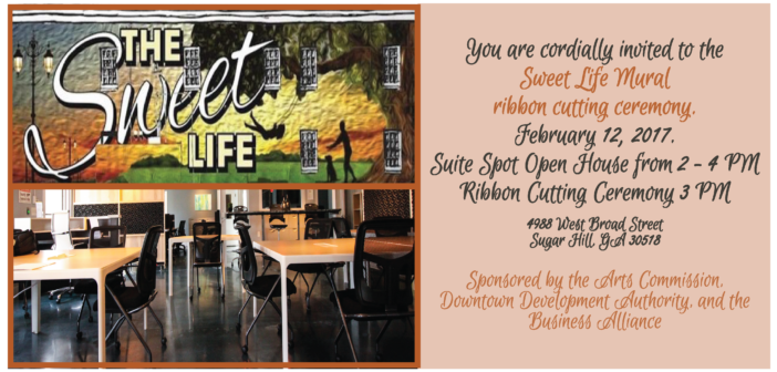 Sweet Life Mural Ribbon Cutting Ceremony