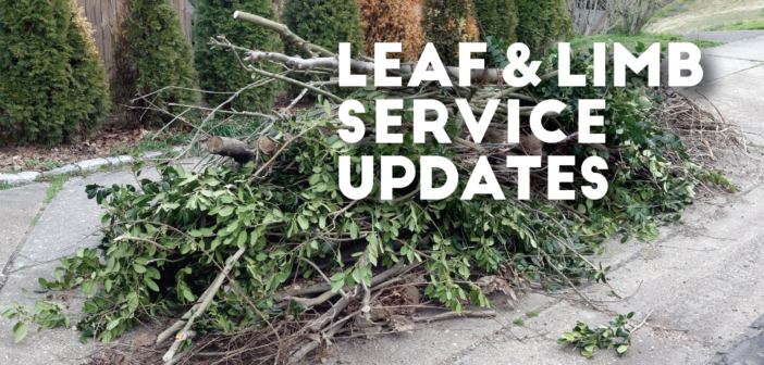 Leaf and Limb Pick-Up Service Updates
