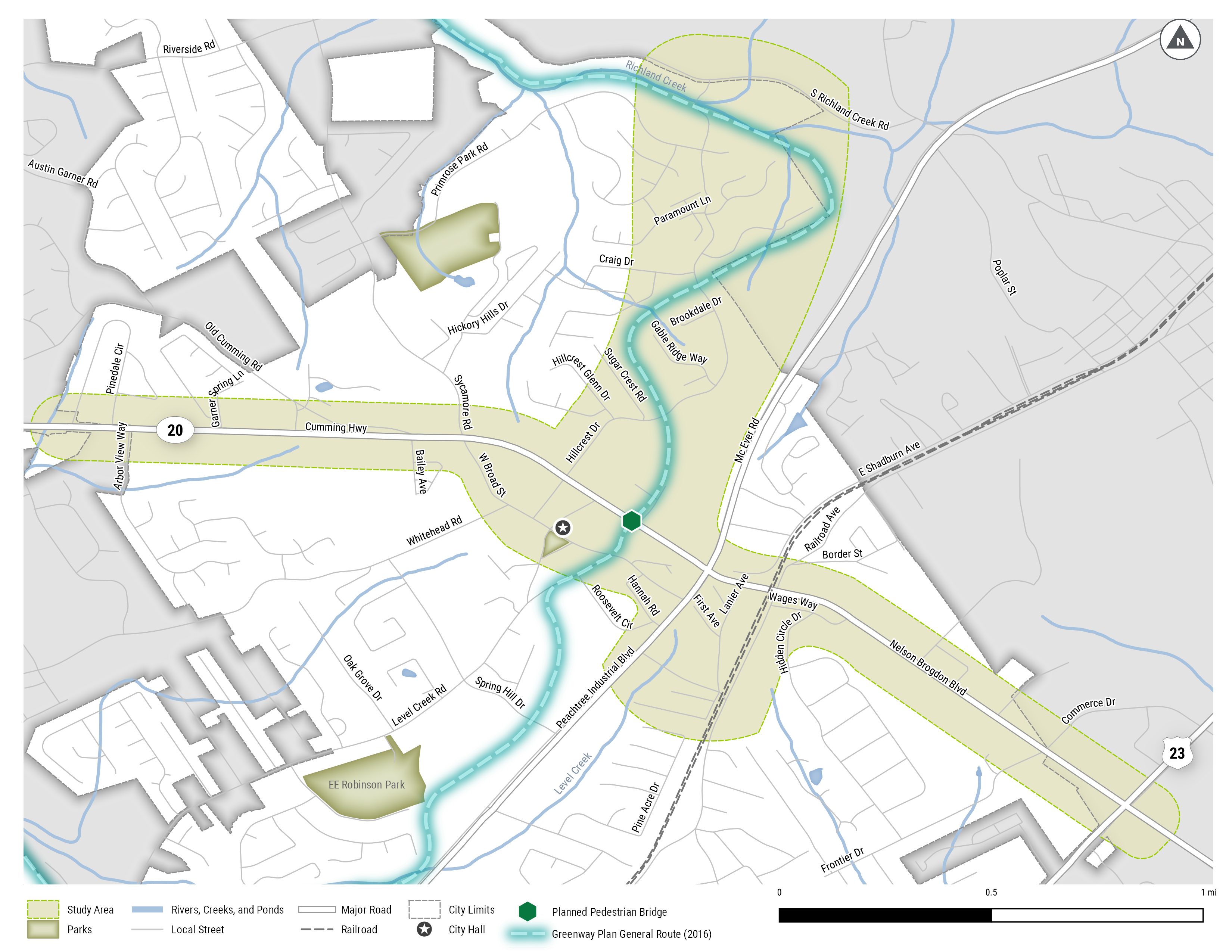 map of 2020 LCI study area