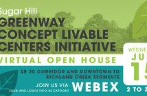 Sugar Hill LCI Greenway concept open house invitation