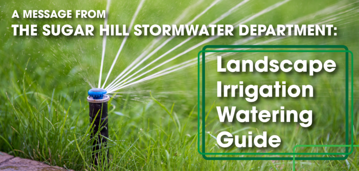 A Message From the Stormwater Department: Landscape Irrigation Guide