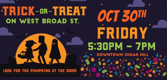 Trick or Treat on W. Broad St.
