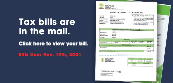 Tax bills are in the mail! <br>View your bill online.